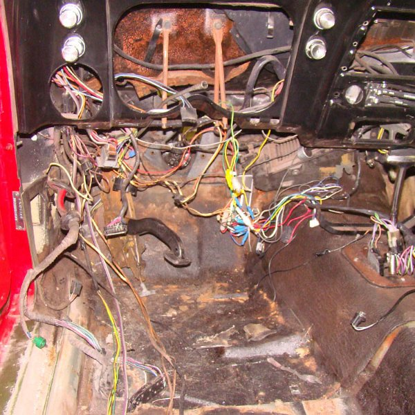 1967 firebird - disassembly for wire harness (43)
