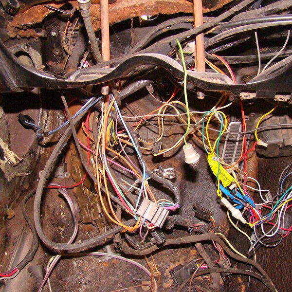 1967 firebird - disassembly for wire harness (45)